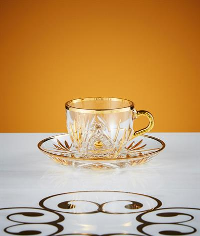 Kasbah Coffee Cup & Saucer in Glass