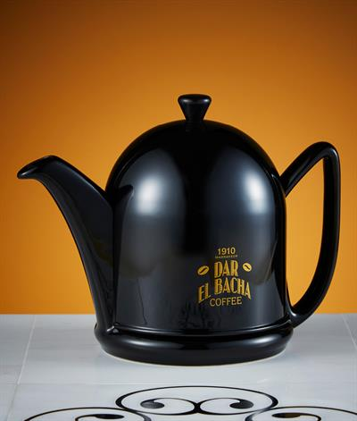 Large Modern Coffee Pot in Black