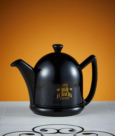 Small Modern Coffee Pot in Black