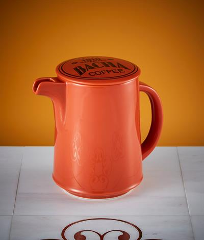 Signore Coffee Pot & Lid in Orange