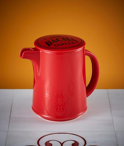 Signore Coffee Pot & Lid in Red