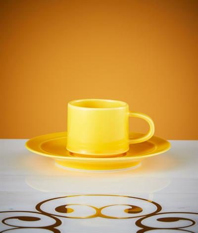 Signore Espresso Cup & Saucer in Yellow