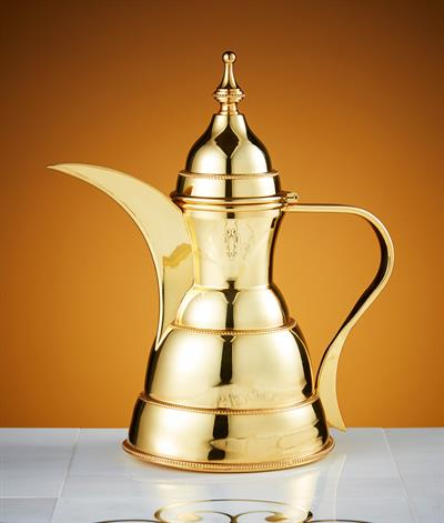 Sultan Coffee Pot in Gold Plate